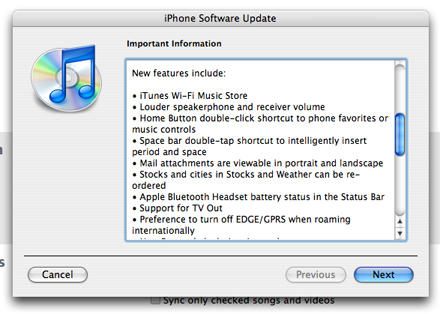 Saiu o iPhone firmware 1.1.1