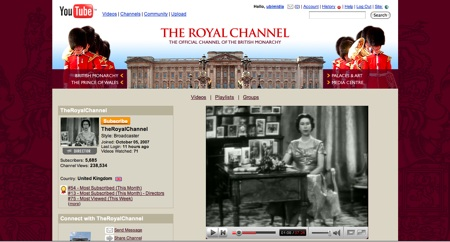 Cibercultura: Royal YouTube