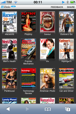 Leia revistas no iPhone ou iPod Touch
