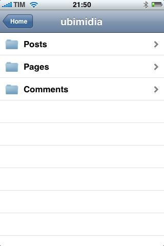 WordPress 1.21 para iPhone